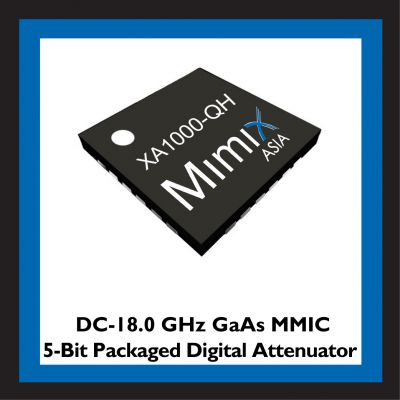 Mimix Asia Launches DC to 18 GHz GaAs MMIC 5-Bit Packaged Digital Attenuator